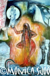 Fire Dakini Dancing Woman (oil, 1999)