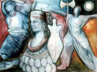 Diana/Artemis, Queen of the Amazons (oil, 1997)
